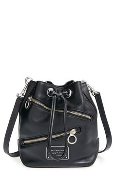 MARC BY MARC JACOBS 'SmallToo Hot to Handle' Zip Leather Bucket Bag available at #Nordstrom
