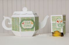 Teapot Gift Box and Tea Bag Dispenser