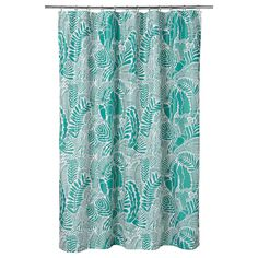 IKEA - GATKAMOMILL, Shower curtain, turquoise, white, The fabric is densely woven and coated to repel water. To be completed with shower curtain rings and a shower curtain rod. Shower Curtain Rods, Bathroom Shower Curtains, Curtains Without Sewing, Recycling Facility, Paint Tubes, Ikea Family, Shower Accessories, Curtains With Rings, Pet Bottle