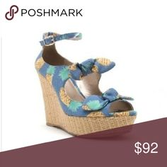 Blue Pineapple Wedges Fun and perfect for summer, these stylish wedges are adorable! October Love Shoes Wedges