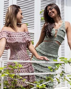 "Photo from album ""Vanessa Montoro"" on Yandex. Vanessa Montoro, Dressy Tops, Crochet Skirts, Crochet Clothes, Crochet Collar, Crochet Lace, Knit Dress, Dress Skirt, Two Princess"