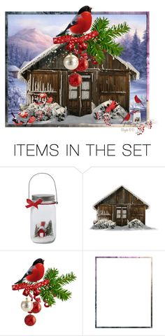"""""""Winter Cardinals"""" by birgitte-b-d ❤ liked on Polyvore featuring art"""