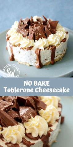 Toblerone Cheesecake is delicious! If you love Toblerone and want to see it turned into an easy to make cheesecake this is the recipe for you. Sharing this quick and easy no bake cheesecake recipe that can be done in 30 minutes or less! Easy No Bake Cheesecake, How To Make Cheesecake, Baked Cheesecake Recipe, Toblerone Cheesecake Recipe, Lotus Cheesecake, Homemade Cheesecake, Classic Cheesecake, Fun Desserts, Delicious Desserts