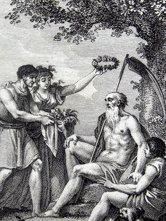 1796  SATURN Saturnus Roman Mythology  by AntiqueORIGINALS on Etsy