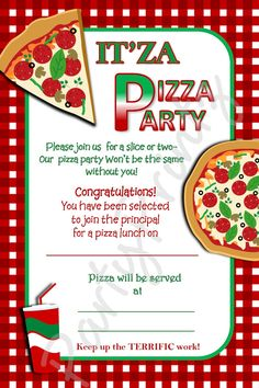 Pizza Party Invite Fight For Your Right To Paaaaartay