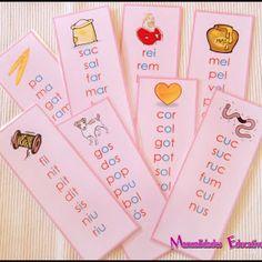 Estas son nuestras listas de palabras de la serie rosa, todas ellas son palabras fónicas de tres letras, en cada una de ellas tienen en ...