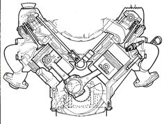 A sectional view of the ROVER engine. A masterpiece of design. Range Rover Sport V8, Range Rover Jeep, Jeep Cj6, Jeep Rubicon, Yamaha Engines, Engine Tattoo, V Engine, Mechanic Tattoo, Chevy Trailblazer
