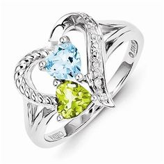 Solid 925 Sterling Silver Colored Highest Quality December Simulated Birthstone Blue Topaz August Simulated Birthstone Green Peridot Diamond Engagement Ring (.01 cttw.) (2mm) Sonia Jewels http://www.amazon.com/dp/B00Q88BRBO/ref=cm_sw_r_pi_dp_WgGNub0RPKHWB
