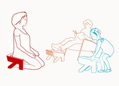 Multifunctional stool: meditation stool - stool for kids and a stool for adults and your feet.