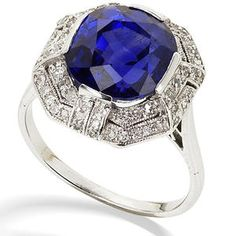 An art deco sapphire and diamond dress ring, circa 1925