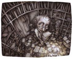 Books are needed to investigate / Los libros son necesarios para investigar (ilustración de Adam Oehlers)