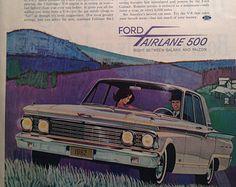 Ford Fairlane 500, 1962, V-8, advertisement