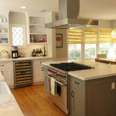 kitchen island with separate stove top from oven perfect kitchen pinterest stove ovens. Black Bedroom Furniture Sets. Home Design Ideas