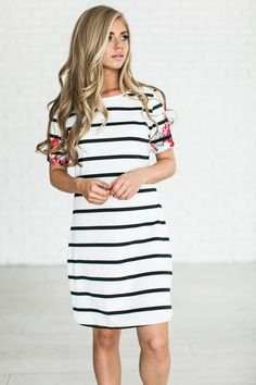 Floral Sleeve Tunic - Mindy Mae's Market