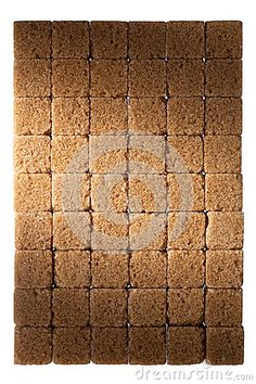 Brown sugar isolated on white background.