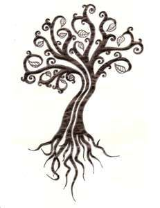 cool scroll tree tat