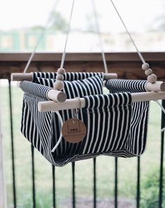 Help With Toddler Separation Anxiety Indoor Swing, Porch Swing, Front Porch, Baby Decor, Nursery Decor, Wood Swing, Minimalist Baby, First Birthday Gifts, Bebe