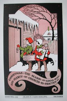 1937 Hope of a Nation Good Will Christmas WPA era Vintage Poster