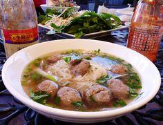 Bo Vien (Vietnamese Meatballs) http://vietspices.blogspot.com/2011/09/bo-vien-vietnamese-beef-meatballs.html Good, quick pho broth recipe - https://docs.google.com/document/d/1e5grr8lrLOpRzT6iO6_4lsDZhH7bxUnw2ZQuQmHg0Gk/edit?usp=sharing