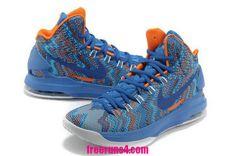 269aa6a6507 Nike Zoom KD V 5 Christmas Graphic Royal BlueWhiteOrange Womens Shoes