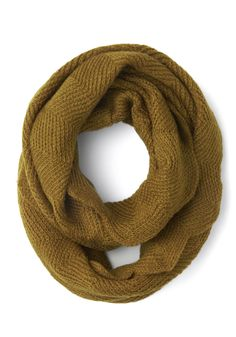 Circle scarf in olive.