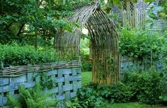 willow arbor and basket weave fence! by michelle.enter