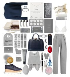 """Untitled #45"" by bianca0813 ❤ liked on Polyvore featuring Vika Gazinskaya, T By Alexander Wang, STELLA McCARTNEY, Aspinal of London, Dogeared, beautyblender, For Love & Lemons, Sephora Collection, Minnie Rose and Tim Holtz"