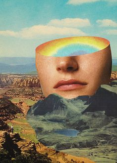 Rainbow Head on Flickr....   Collage Art by Mariano Peccinetti