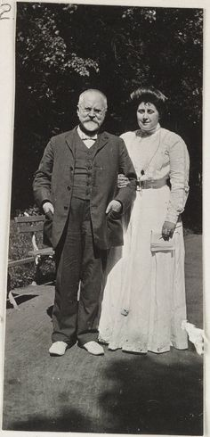 Anna Vyrubova with her father.  Anna was a close friend (and sometime  vexation) to Empress Alexandra