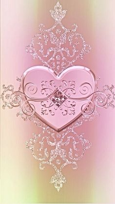By Artist Unknown. Bling Wallpaper, Heart Wallpaper, Love Wallpaper, Cellphone Wallpaper, Wallpaper Backgrounds, Iphone Wallpaper, Pink Love, Pretty In Pink, I Love Heart