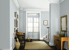 Light French Gray - One of the best blue/gray paint colors. Light French Gray - One of the best blue/gray paint colors. Grey Paint Colors, Trendy Living Rooms, Living Room Colors, Farm House Living Room, Blue Gray Paint Colors, Living Room Paint, Living Room Grey, Bedroom Colors, Apartment Decor