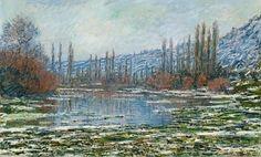 Claude Monet 'The melting of Vetheuil'
