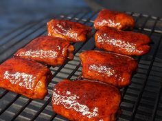 A nice BBQ sauce get's you a nice presentation on those legs ;) Bbq Chicken Thighs, Homemade Bbq, Food Names, Recipe Images, Food Industry, Chef Recipes, Meals For One, Pork