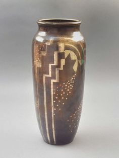 Rare Fernand Grange Art Deco Dinanderie Vase Circa 1930 | From a unique collection of antique and modern vases at http://www.1stdibs.com/furniture/more-furniture-collectibles/vases/