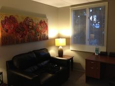 Therapy office in Cranston, RI-great idea to convey your office space on your website