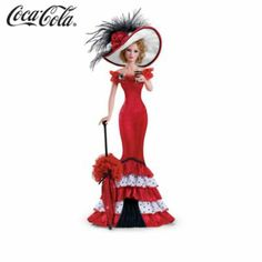 Thomas Kinkade Lady Figurines | Figurines: The Sparkling Ladies Of COCA-COLA Figurine Collection