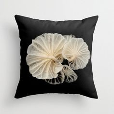Mushroom Pillow Cover Macro Mushroom In The Dark Woodland Print Fungi Pillow Cover Forest Photograph Gills Mushroom Photo