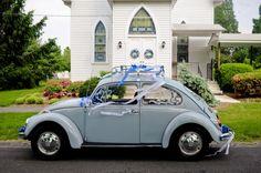 Vintage get away car - VW beetle: adorable.