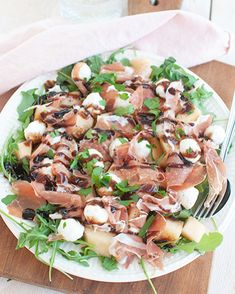 Healthy Salads, Healthy Recipes, Bruchetta Recipe, Diner Recipes, Dinner Dishes, Food Inspiration, Love Food, Yummy Food, Lunch