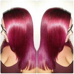 Violet Red Hair Color with Anti Frizz Treatment - http://sarasotabradentonhairsalon.com/violet-red-hair-color-with-anti-frizz-treatment/