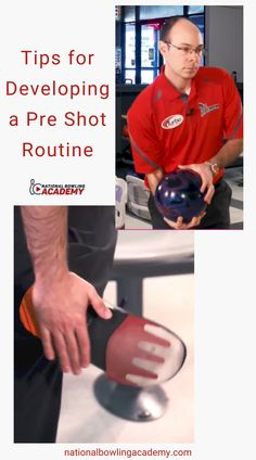 A pre shot routine, simply put, is everything that happens before you are ready to take a shot. Keep in mind that there is no right or wrong way to do this routine. However, try to keep it short enough to not take away from the pace of play. Develop your routine today! Bowling Tips, Going Through The Motions, Take A Deep Breath, Take A Shot, Calm Down, Keep In Mind, Competition, Improve Yourself, Coaching