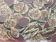 British Tuck Shop Retro Sweets Mini Milk Chocolate Flavour Disco Disks - uk discos disks - use for color ref nails