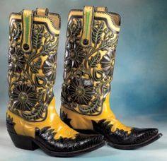 Fancy vintage boots, no info.
