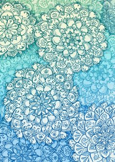Blue Green Ballpoint Pen Doodle Poem by Micklyn
