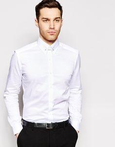 För dyr ....Image 1 ofReiss Shirt with Collar Bar in Slim Fit