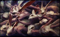 Ryohei Hase – Cultura, arte y diseño mexicano Creepy People, Creepy Guy, Scary, Cy Twombly, Celine, Said Wallpaper, Wallpaper Wallpapers, Rabbit Head, Creepy Images