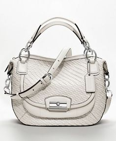 Save on the Coach Kristin Woven Round Purse Ivory White Parchment Creamy White Leather Satchel! This satchel is a top 10 member favorite on Tradesy. See how much you can save Cheap Coach Handbags, Latest Handbags, Purses And Handbags, Coach Purses, Coach Bags, Spring Bags, Coach Outlet, Handbag Accessories, Women Accessories
