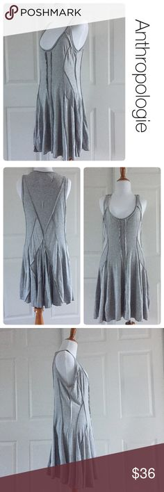Anthropologie gray dress by Tiny size M Excellent condition. No stains or holes. 100% cotton Anthropologie Dresses Midi