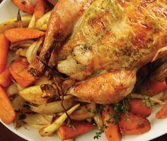 Roast Chicken with Carrots Recipe    Epicurious.com