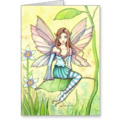 Watercolor Fairy Cards by Molly Harrison (Love them!)